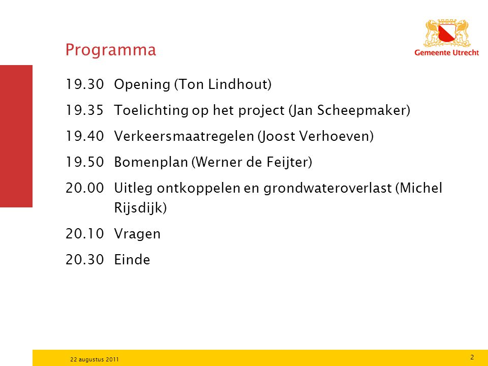 Programma Opening (Ton Lindhout)