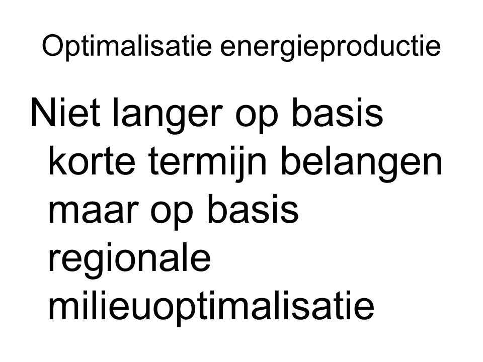 Optimalisatie energieproductie