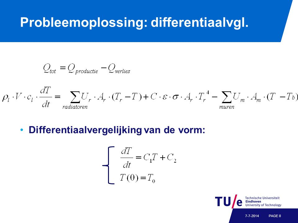 Probleemoplossing: differentiaalvgl.