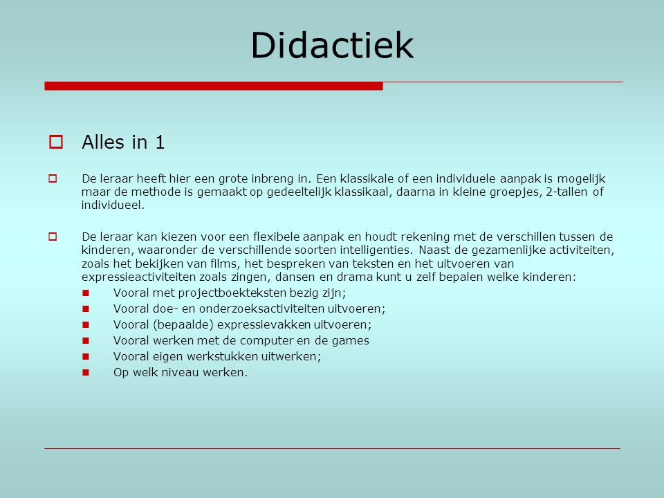 Didactiek Alles in 1.