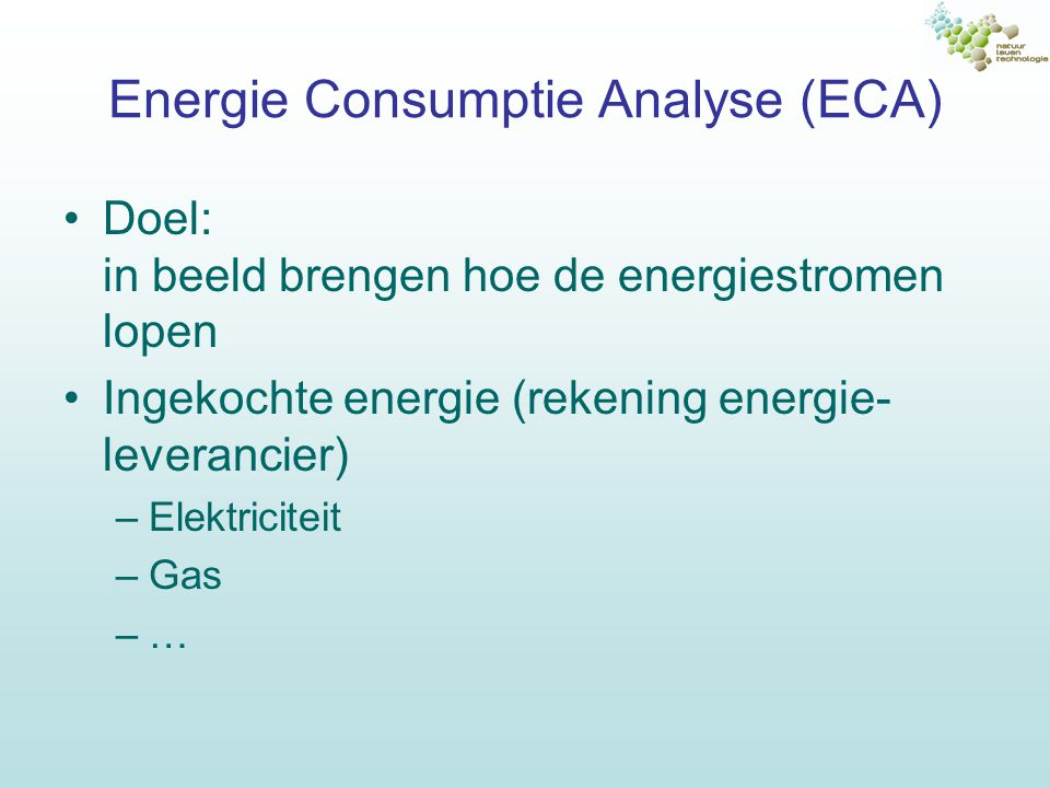 Energie Consumptie Analyse (ECA)