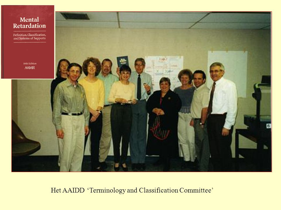 Het AAIDD 'Terminology and Classification Committee'