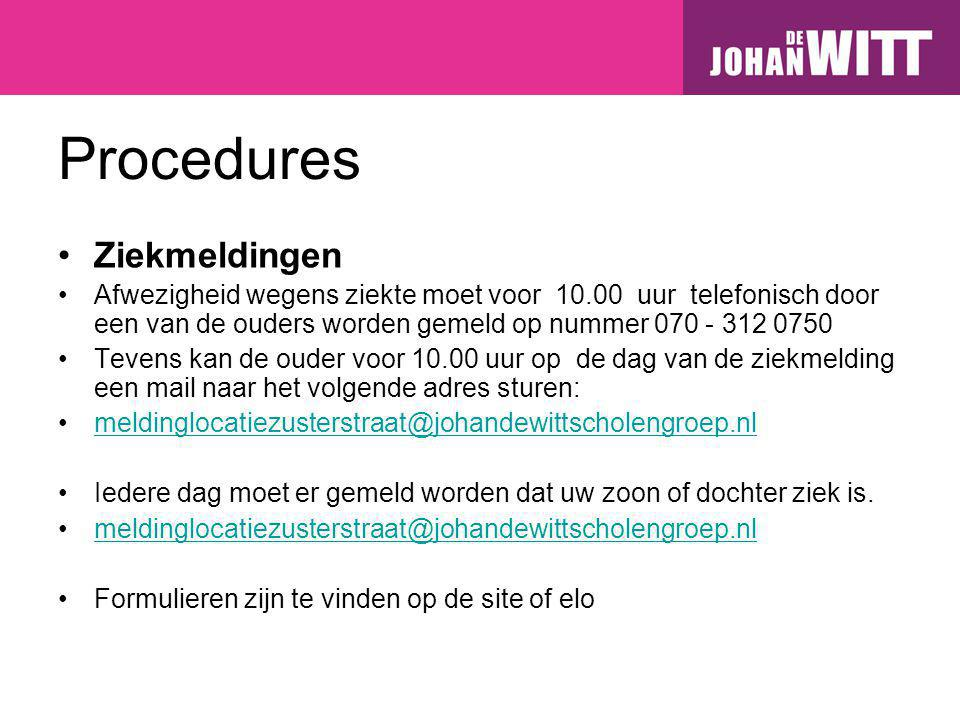 Procedures Ziekmeldingen