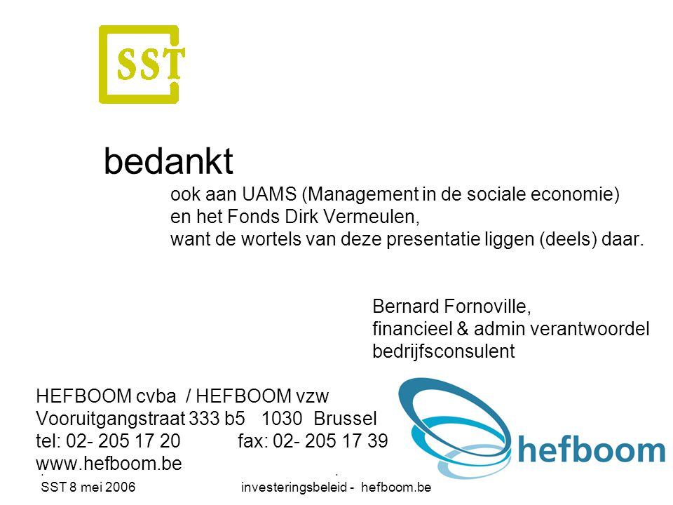. investeringsbeleid - hefboom.be