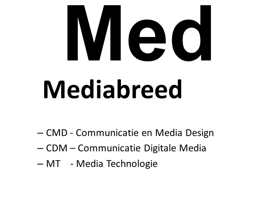 Med Mediabreed CMD - Communicatie en Media Design