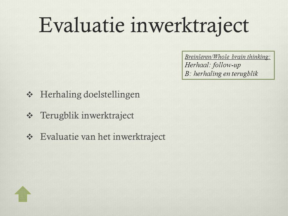 Evaluatie inwerktraject