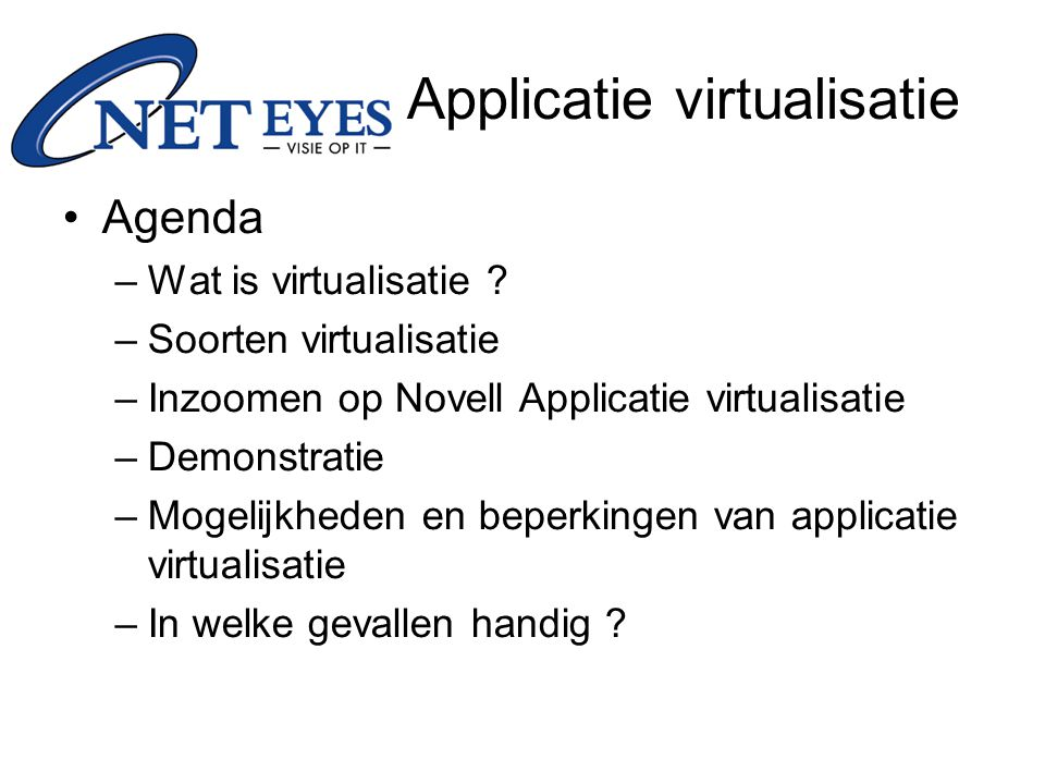 Applicatie virtualisatie