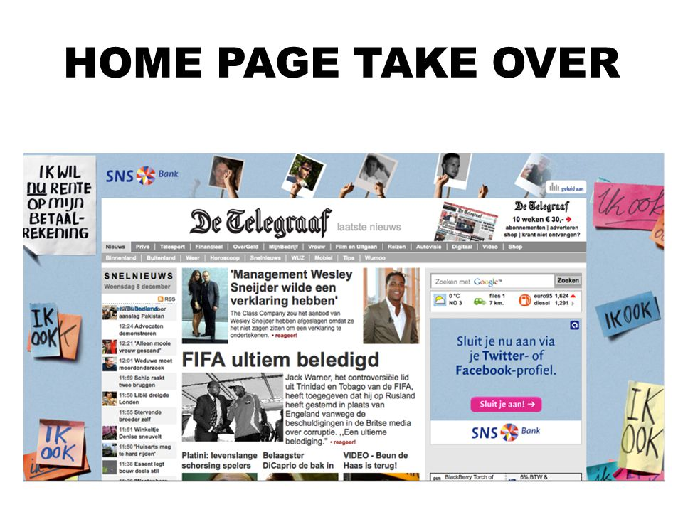 HOME PAGE TAKE OVER Home page take over