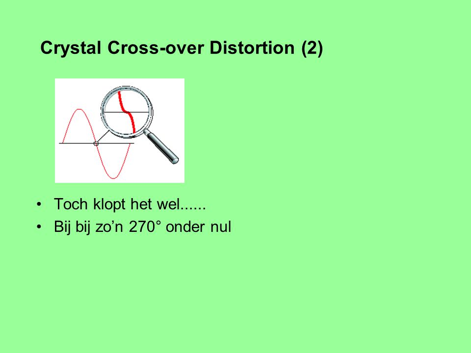 Crystal Cross-over Distortion (2)