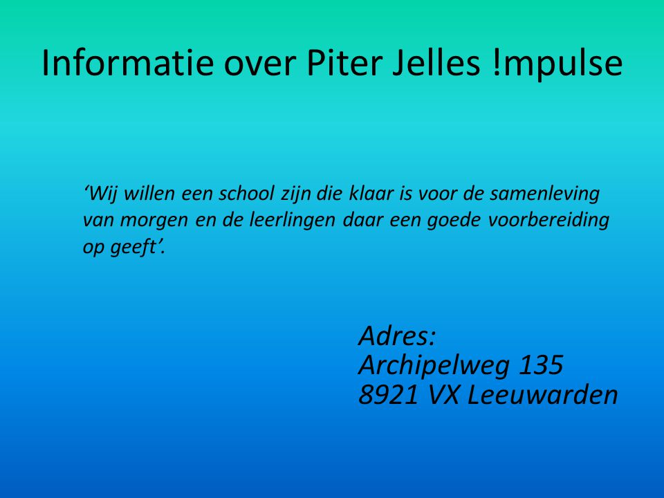 Informatie over Piter Jelles !mpulse