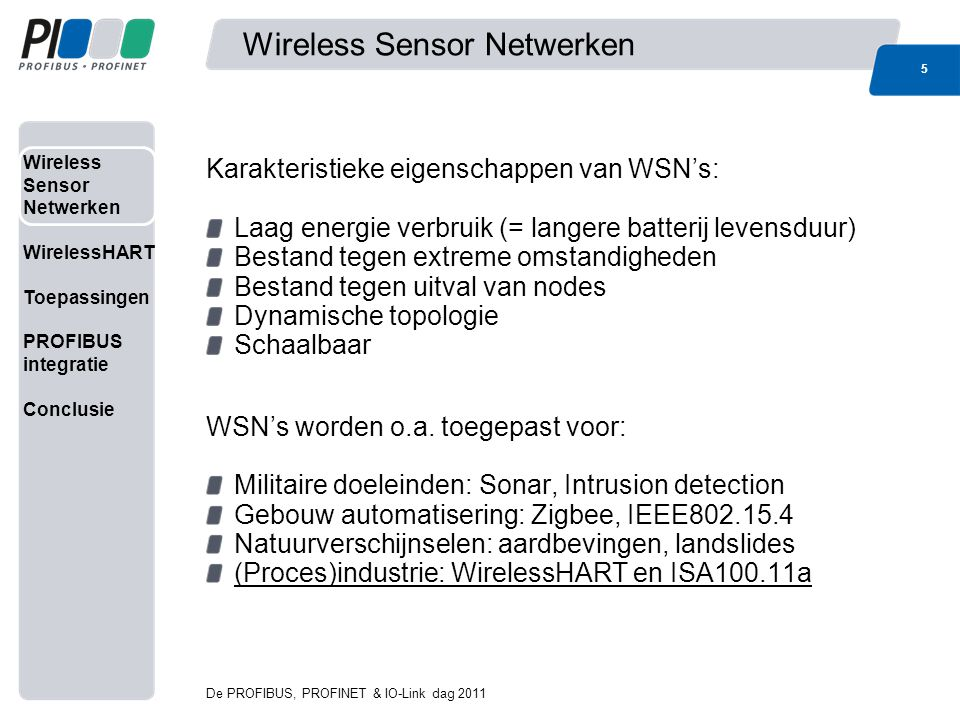 Wireless Sensor Netwerken