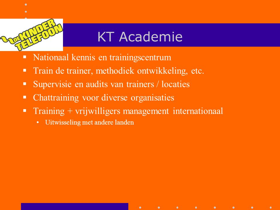 KT Academie Nationaal kennis en trainingscentrum