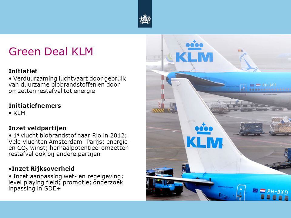 Green Deal KLM Initiatief