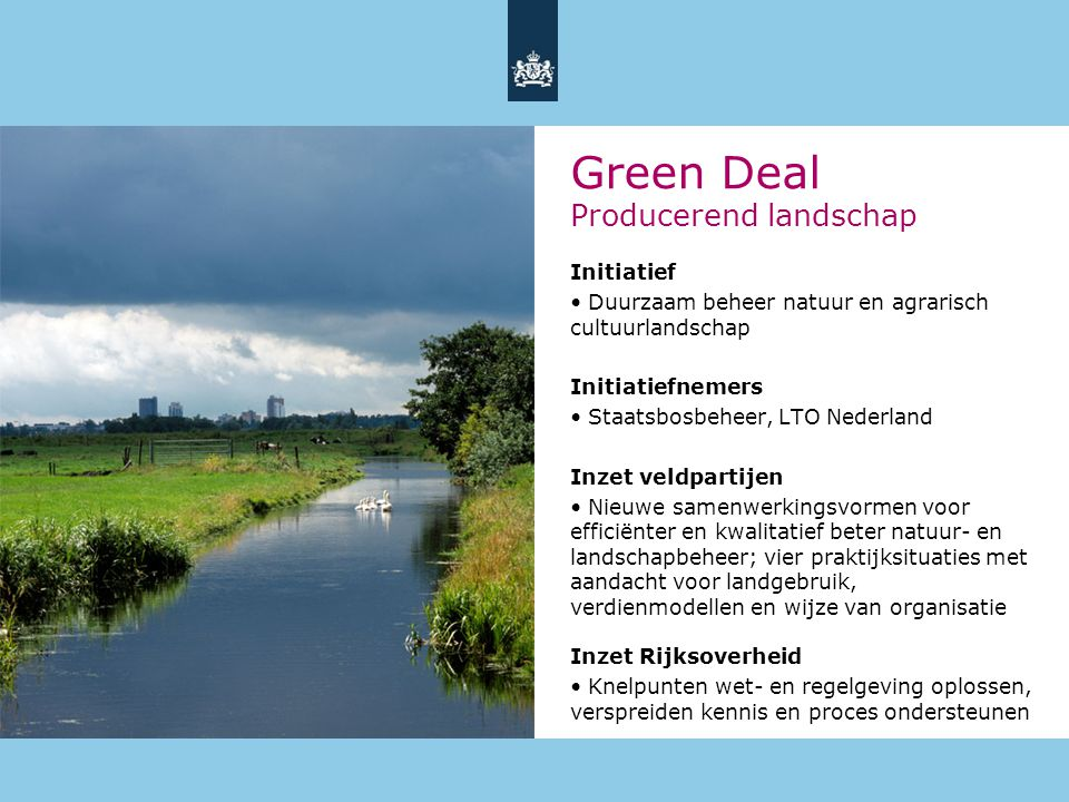 Green Deal Producerend landschap