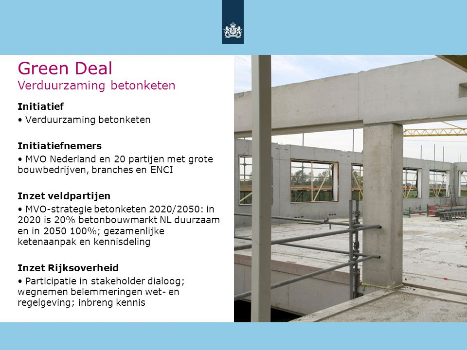Green Deal Verduurzaming betonketen