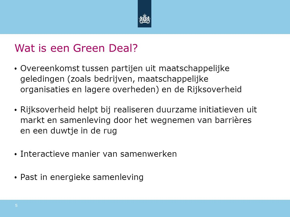 Wat is een Green Deal