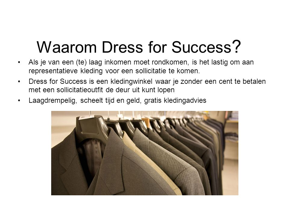 Waarom Dress for Success