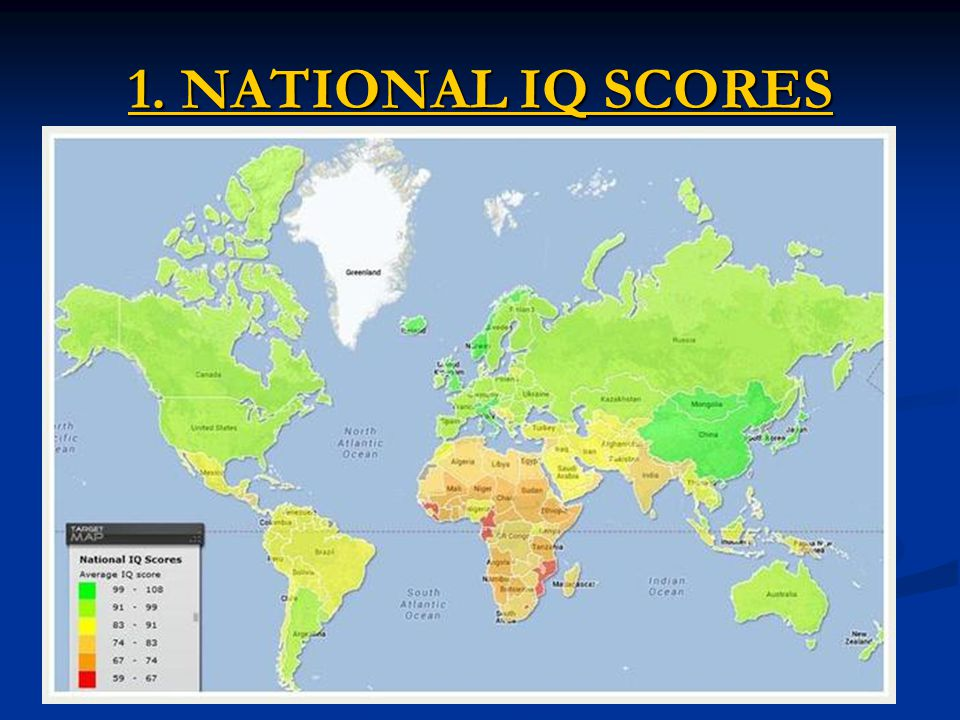 1. NATIONAL IQ SCORES