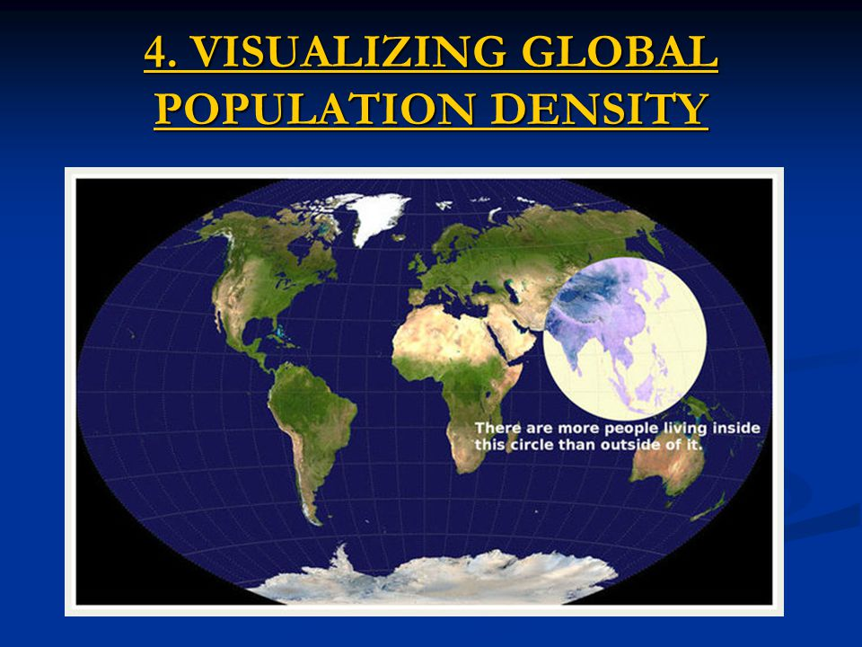 4. VISUALIZING GLOBAL POPULATION DENSITY