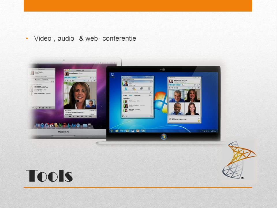 Tools Video-, audio- & web- conferentie