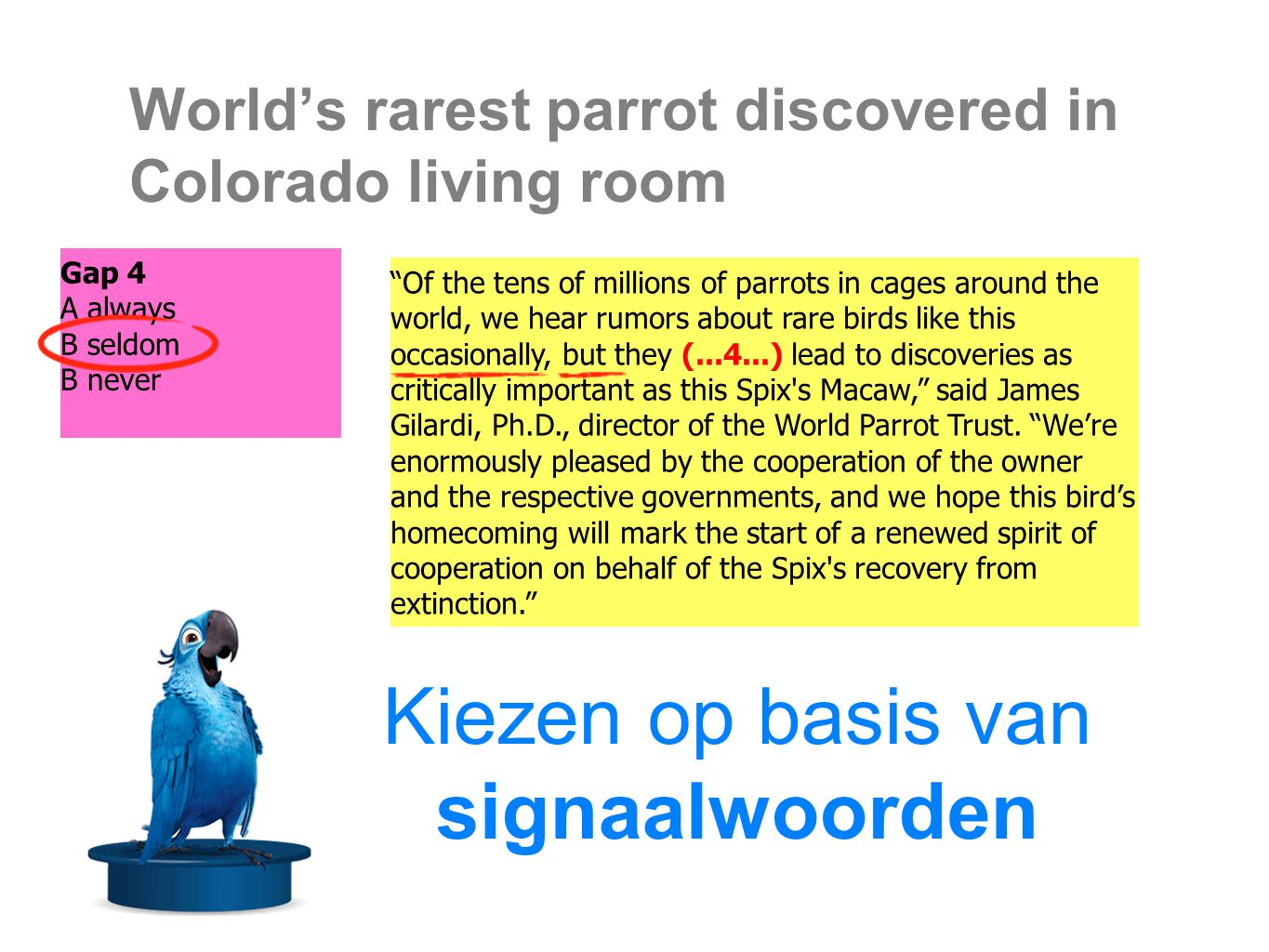World's rarest parrot discovered in Colorado living room