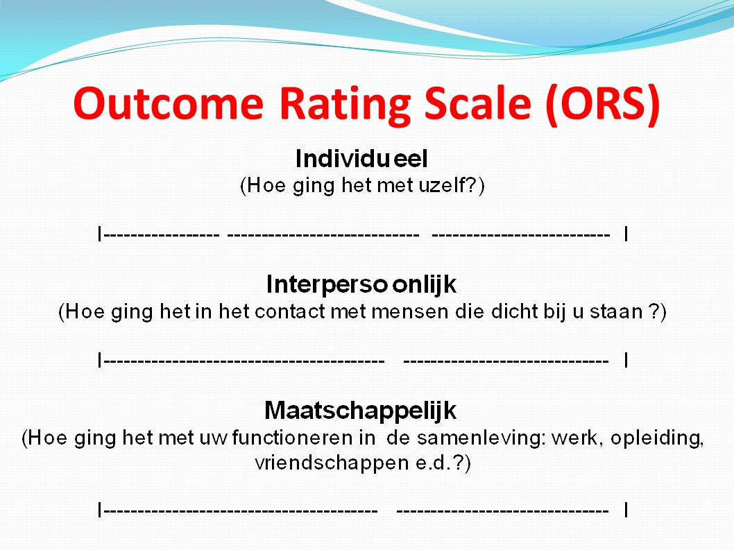 Outcome Rating Scale (ORS)