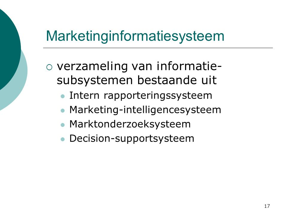 Marketinginformatiesysteem