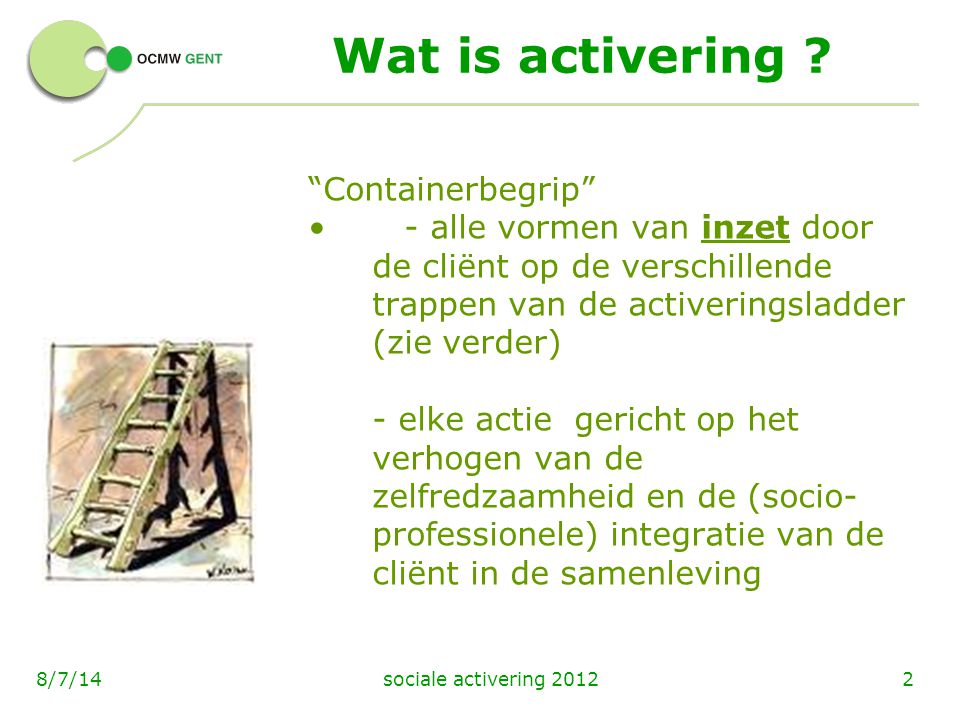 Wat is activering Containerbegrip