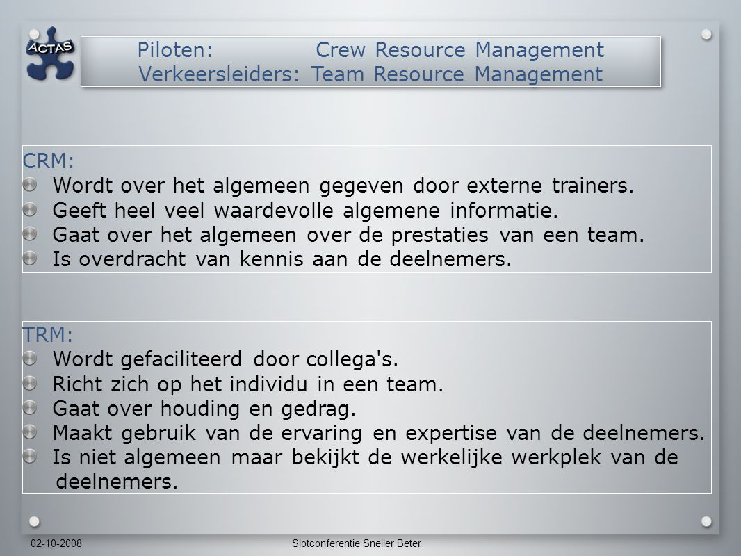 Piloten: Crew Resource Management