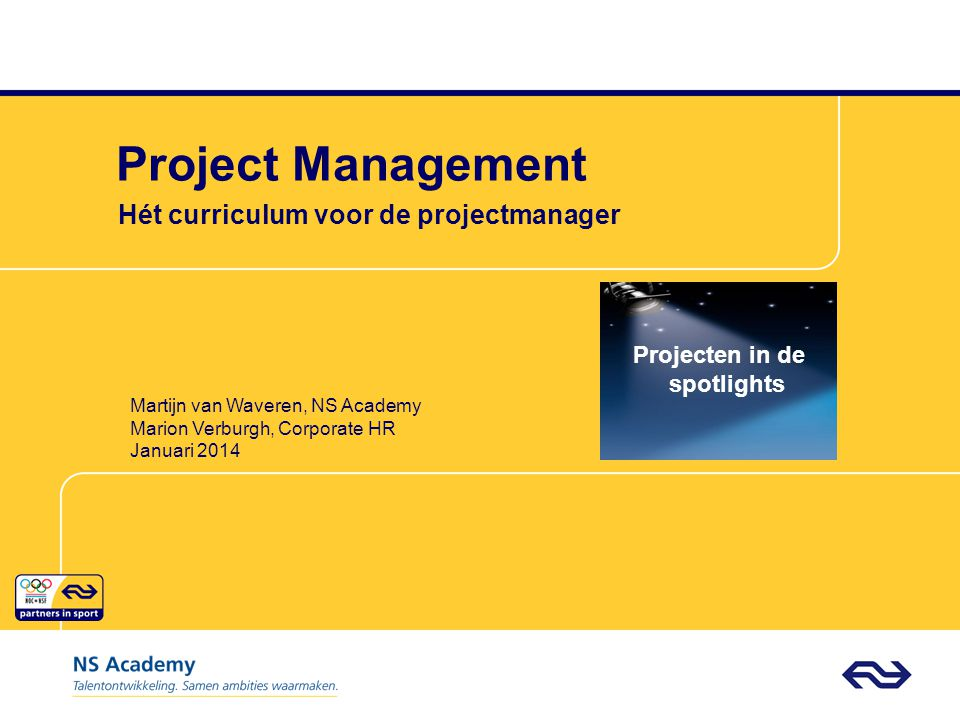 Hét curriculum voor de projectmanager