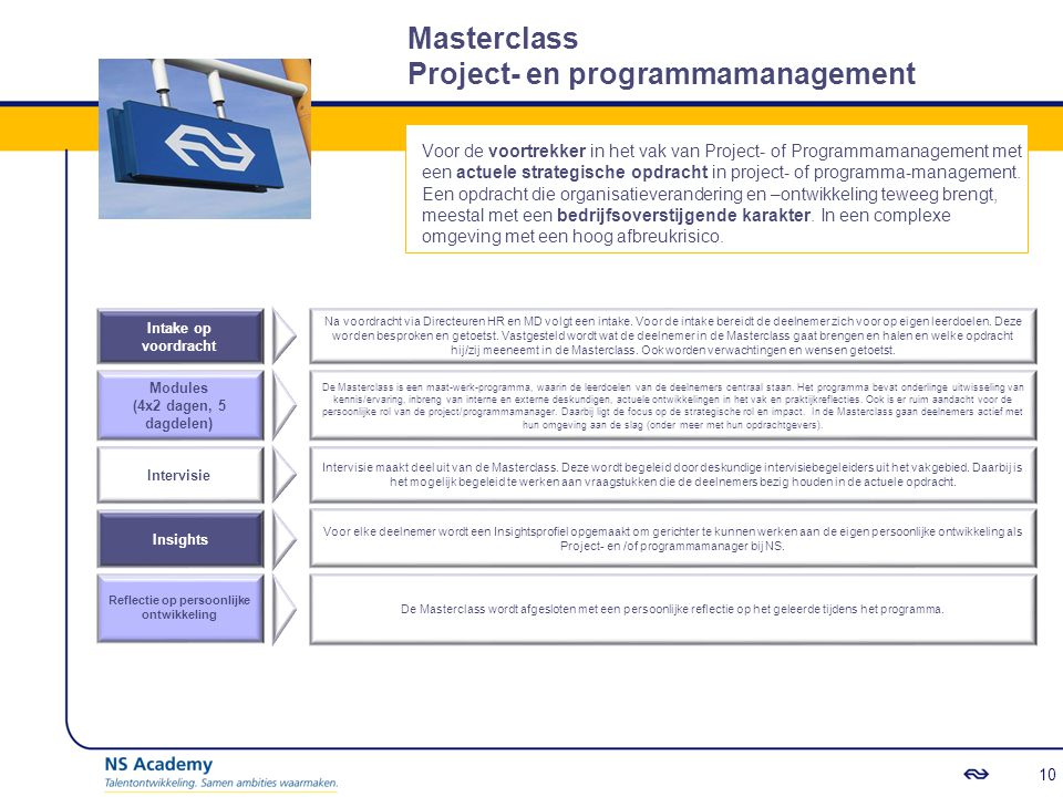 Masterclass Project- en programmamanagement