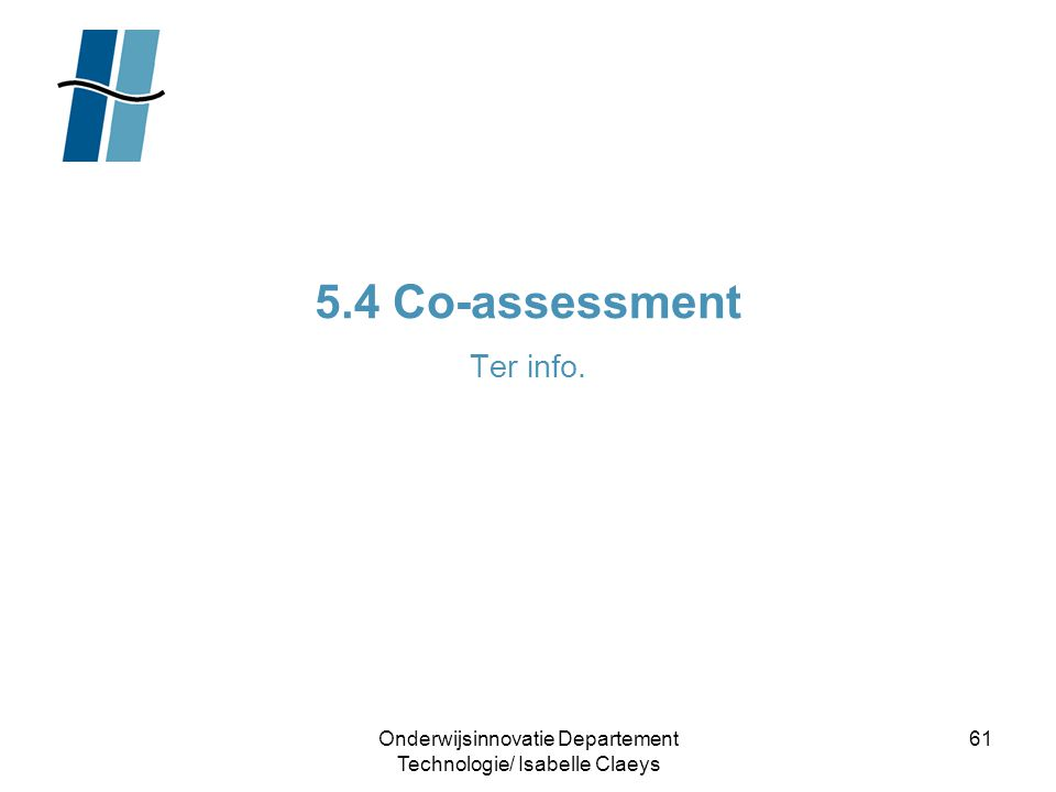 5.4 Co-assessment Ter info.