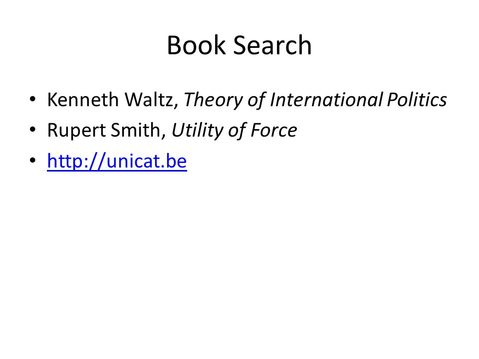 Book Search Kenneth Waltz, Theory of International Politics