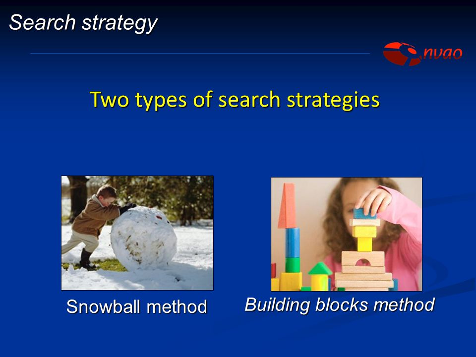 Two types of search strategies