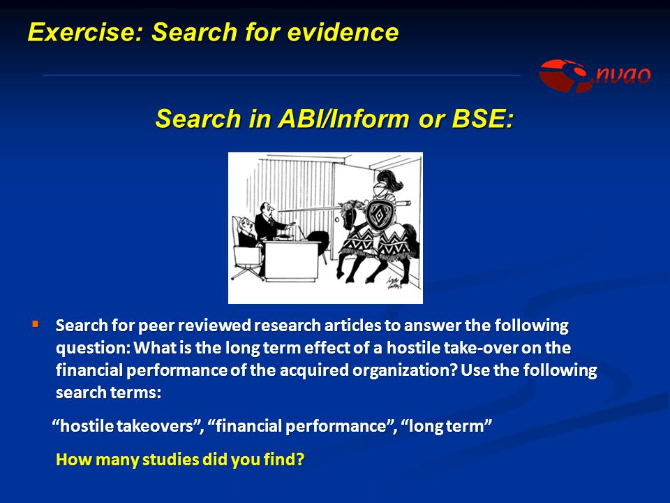 Search in ABI/Inform or BSE: