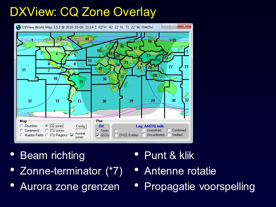 DXView: CQ Zone Overlay