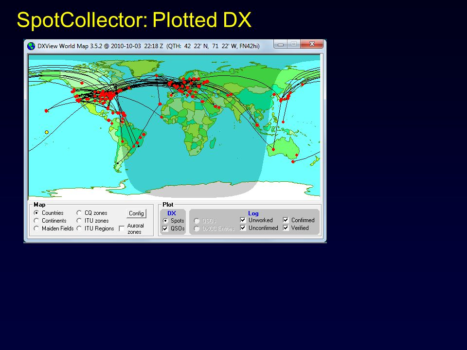 SpotCollector: Plotted DX
