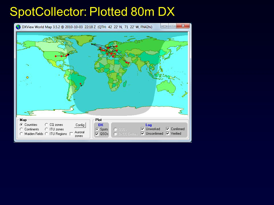 SpotCollector: Plotted 80m DX