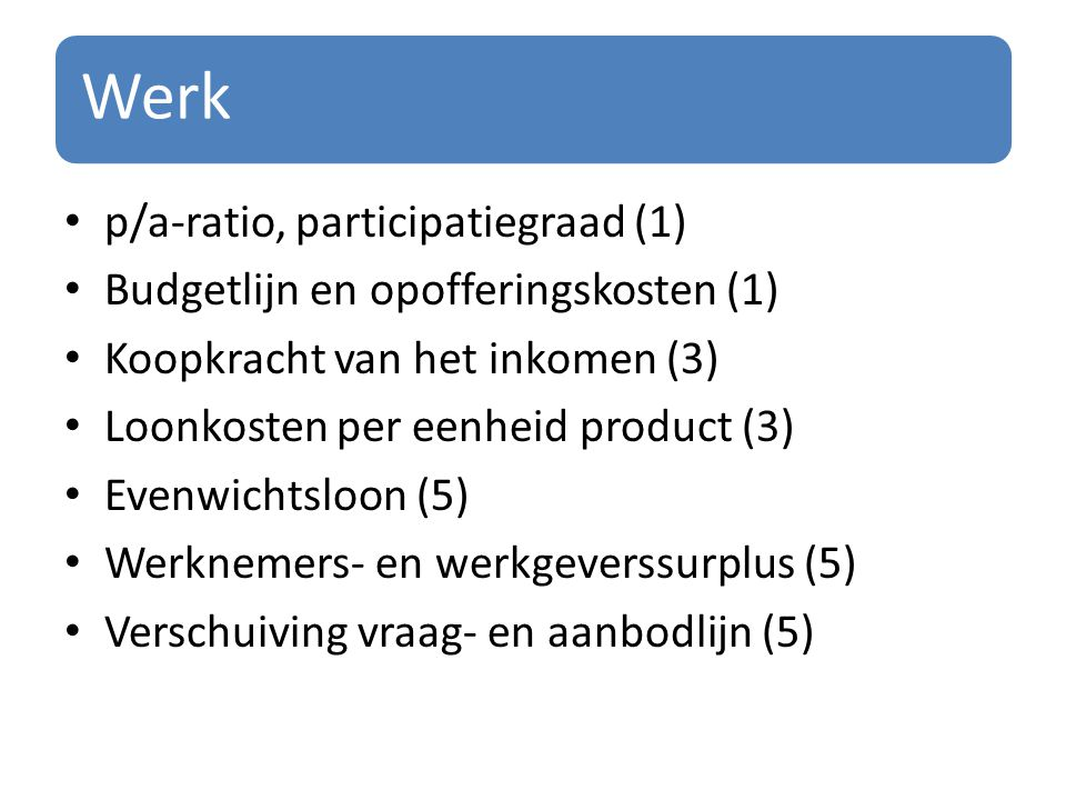 Werk p/a-ratio, participatiegraad (1)