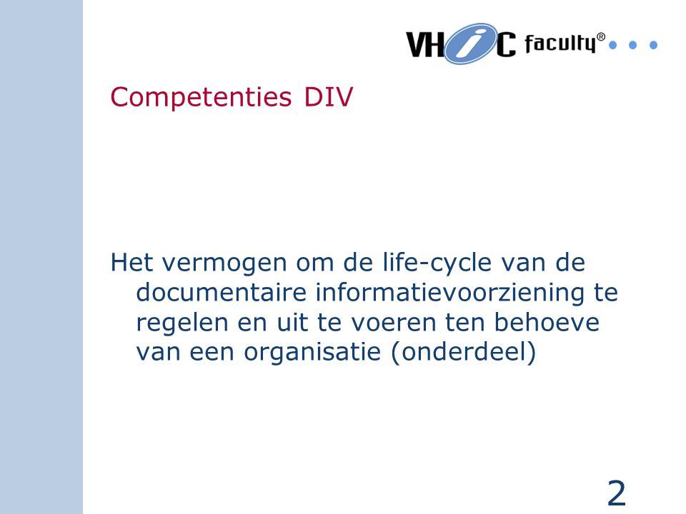 Competenties DIV