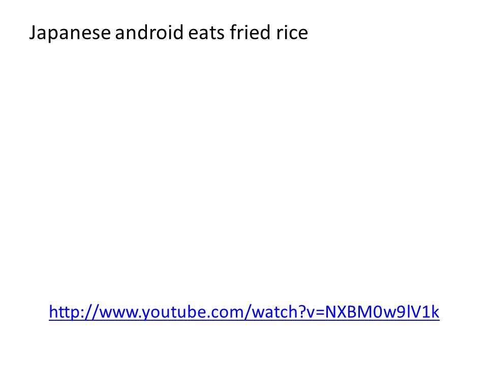 Japanese android eats fried rice