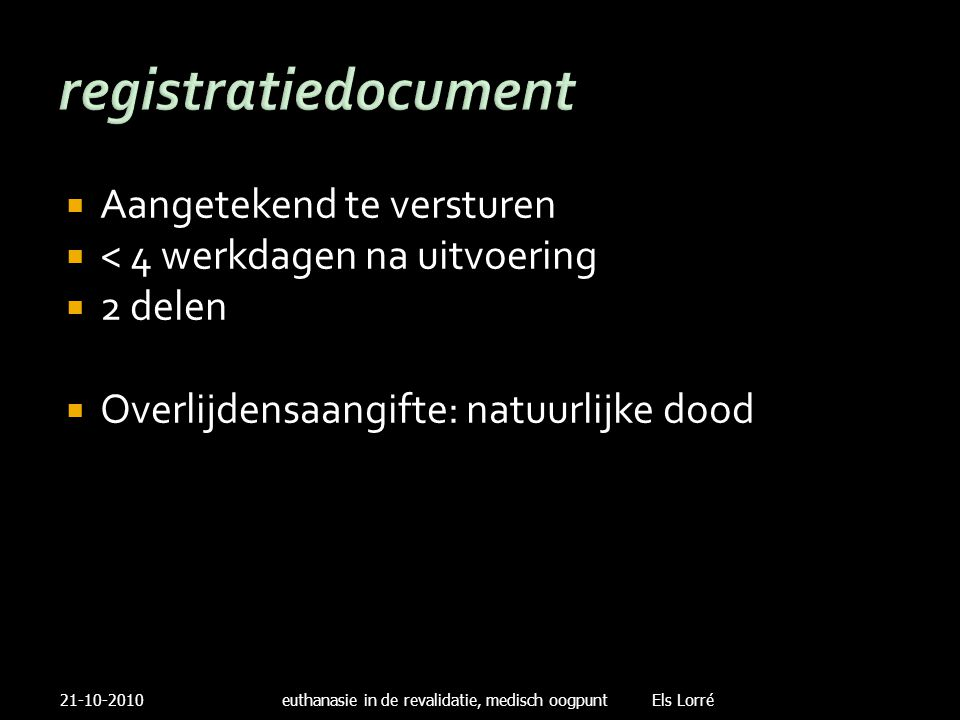 registratiedocument Aangetekend te versturen