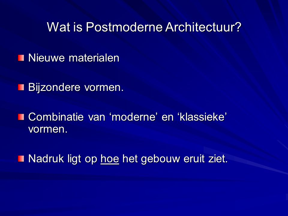 Wat is Postmoderne Architectuur