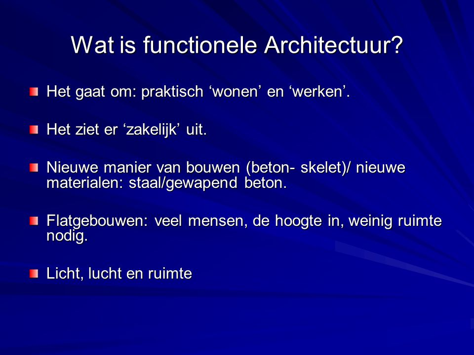 Wat is functionele Architectuur
