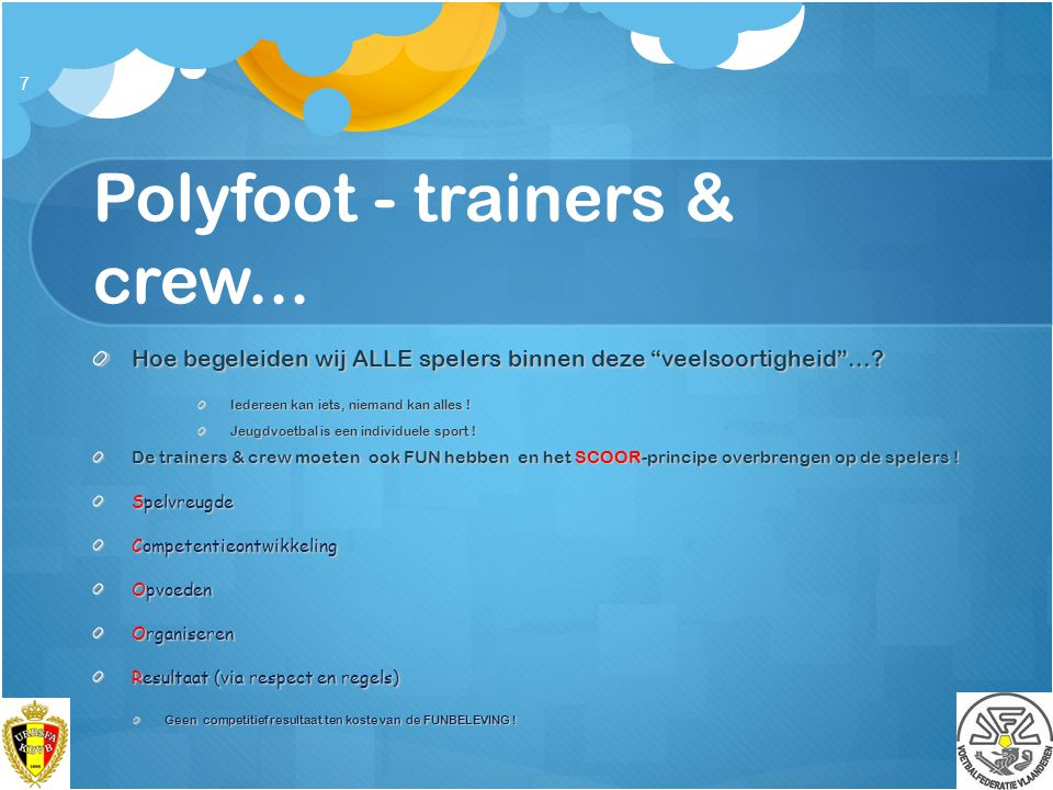 Polyfoot - trainers & crew...
