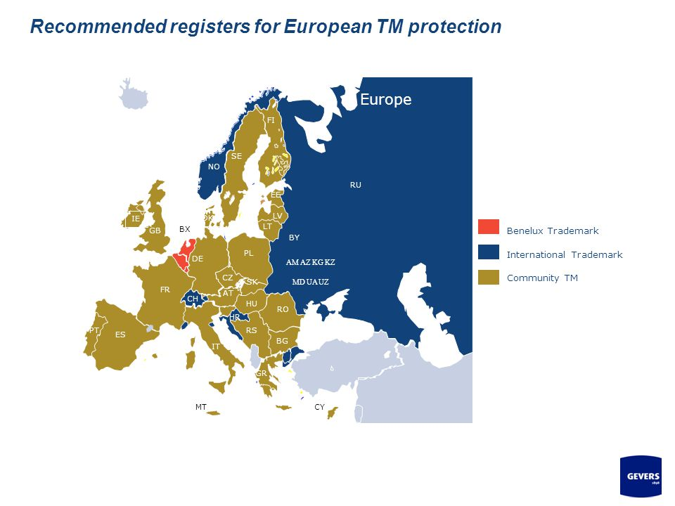Recommended registers for European TM protection