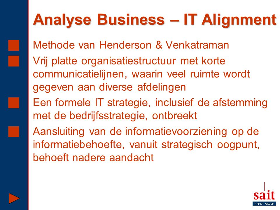 Analyse Business – IT Alignment