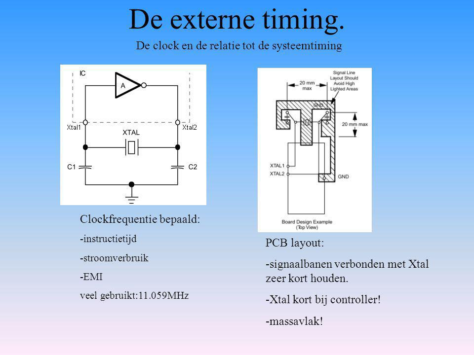 De clock en de relatie tot de systeemtiming