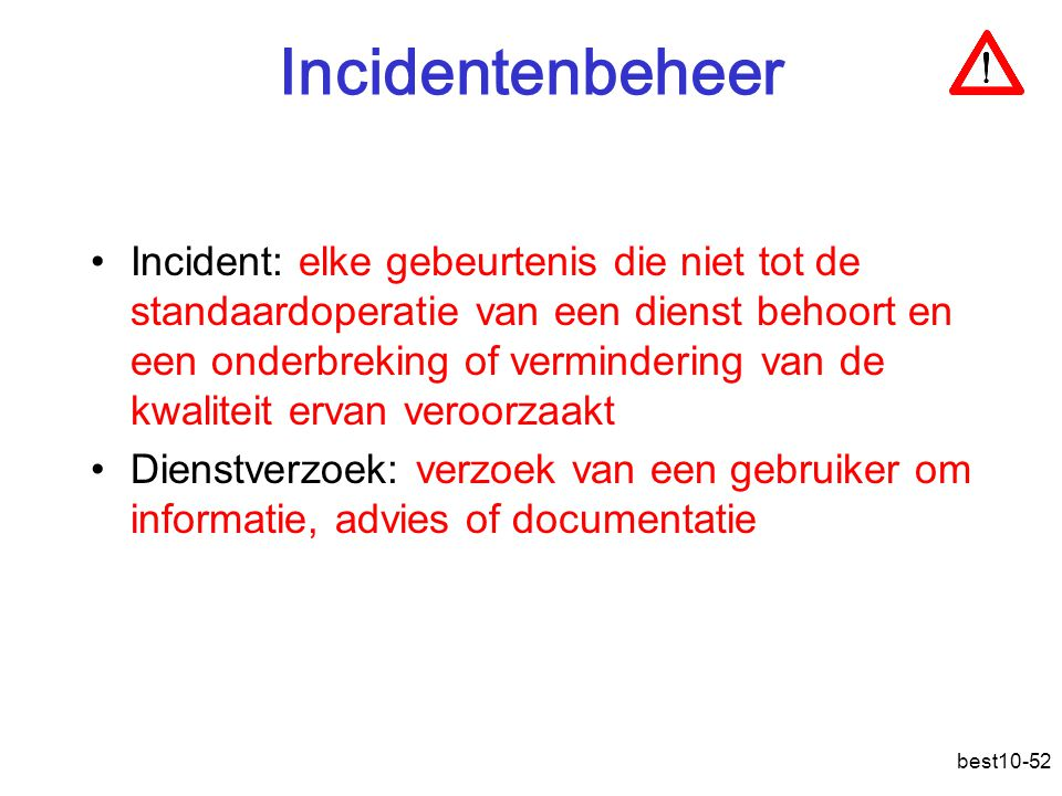 Incidentenbeheer