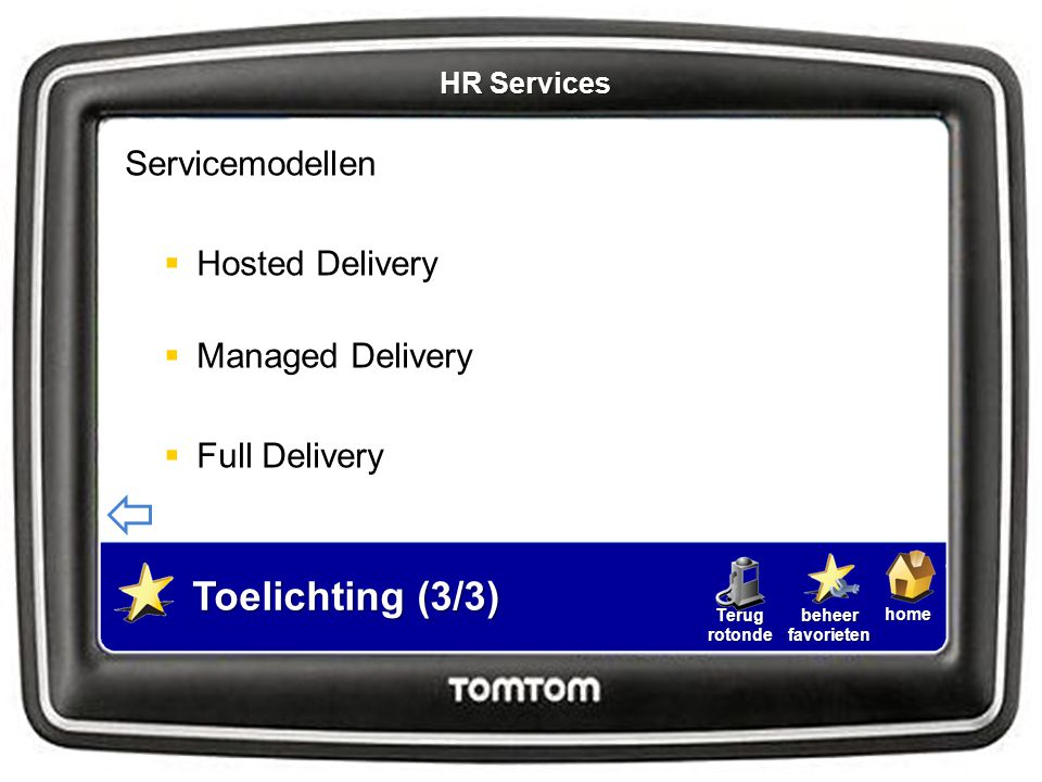 Toelichting (3/3) Servicemodellen Hosted Delivery Managed Delivery